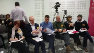 geovation judges consider the entrants' pitches