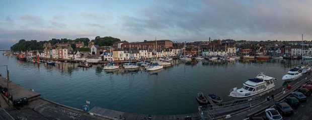 Weymouth Harbour panoramic view