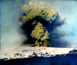 Katla Volcano in Icleand, Erupting in 1918