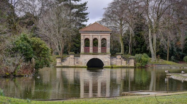 The boathouse at Birkenhead Park