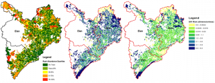 Rush abundance and development of pesticide risk maps.