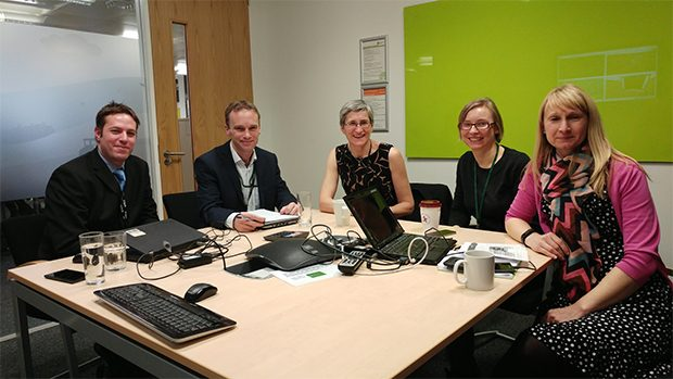 Not quite a #defraselfie. From left–right: Mark Todd, Steve Wilkinson, Clare Moriarty,Sophia Oliver and Lisa Allen