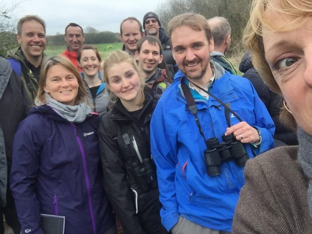 Sally Meecham visiting Shapwick Heath with Natural England
