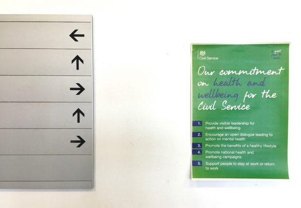 A poster about health and wellbeing in the Civil Service