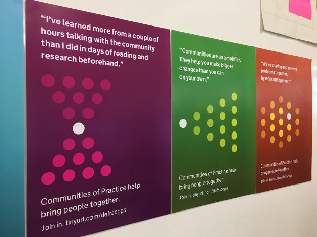 Communities posters at Defra