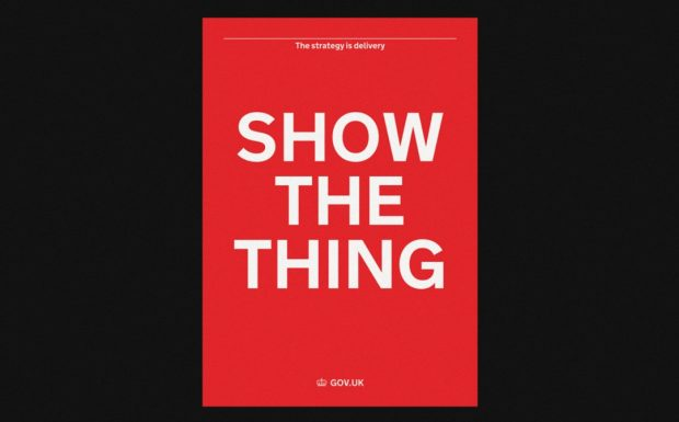 "GDS ""Show the thing"" poster"