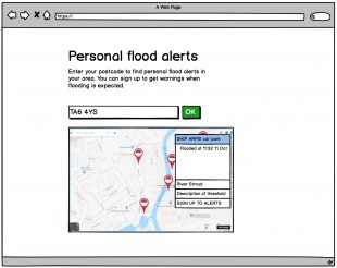 Personal flood alerts screen