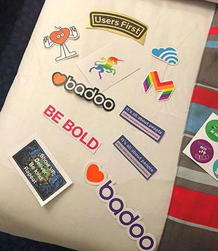 Silicon event sticker