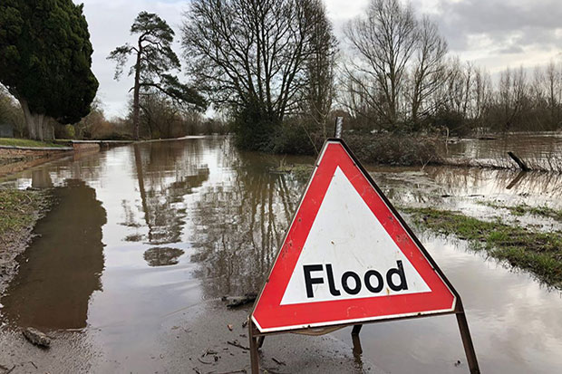 Flood sign image