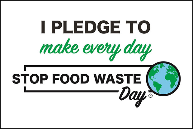 I pledge to make every day Stop Food Waste Day logo