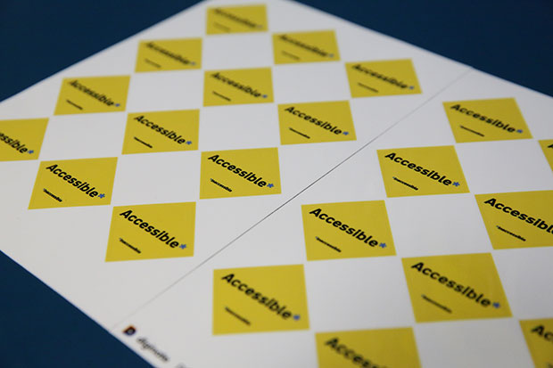 Accessible stickers