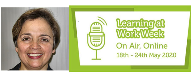 Joya Snowden and Learning at Work week logo